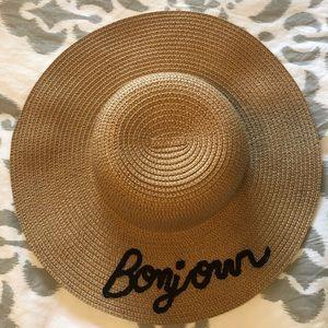 Nicole Marciano Bonjour Straw Beach Hat